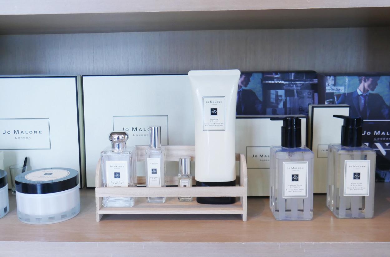 IA店內環境手足保養產品採用英國巴黎JOMALONE品牌