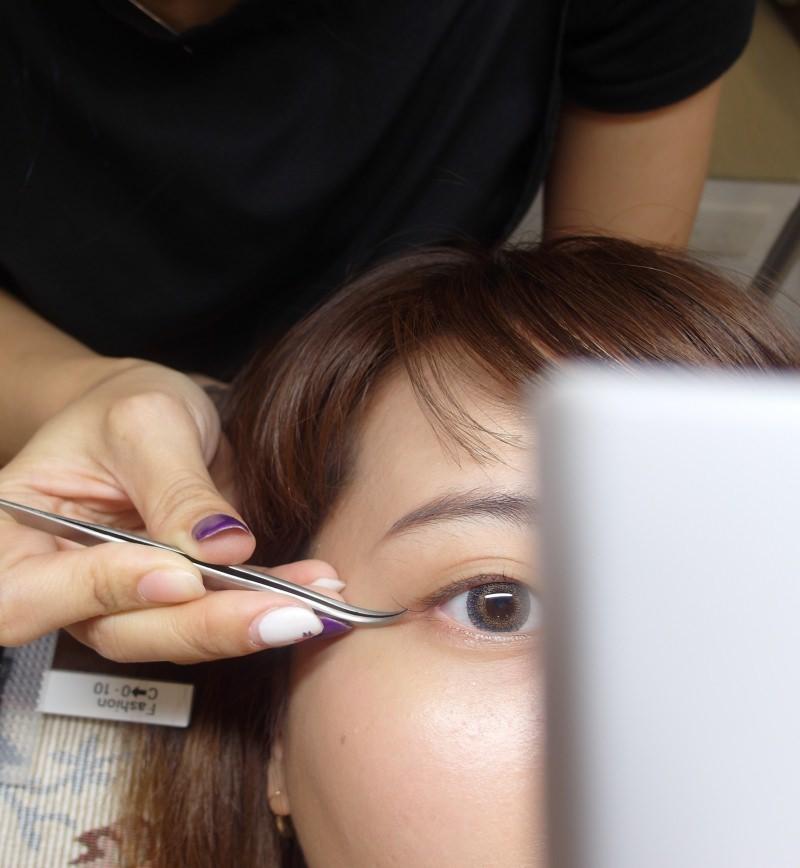 IA專業美睫-比對睫毛翹度長度