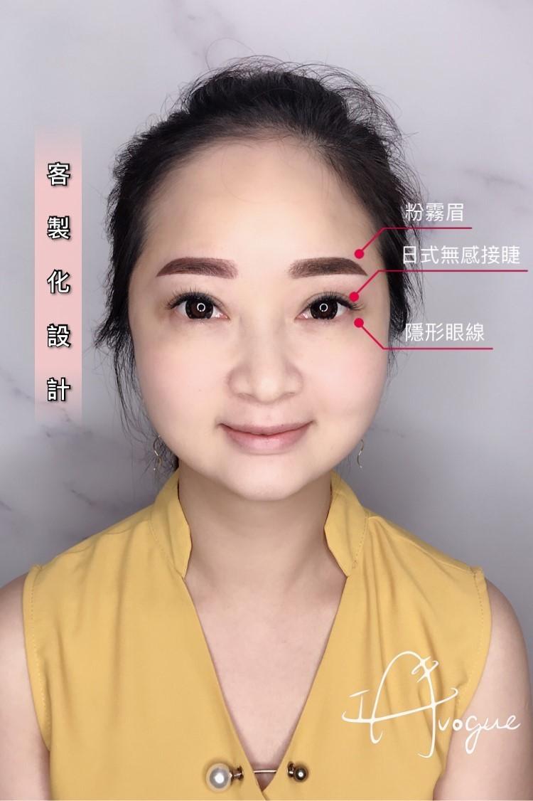 自然韓式半永久隱形眼線紋繡成品照片-台北接睫毛IA專業美睫設計