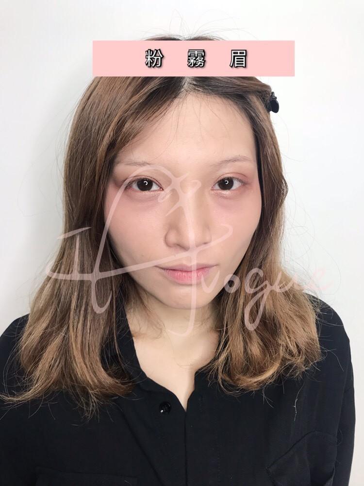 自然粉霧眉沒有蠟筆小新過渡期,霧眉當天成品-IA專業美睫設計
